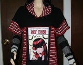 Design Your Own Patchwork Shirt Upcycled Recycled Reconstructed Patchwork Tee Hoodie Baby Doll