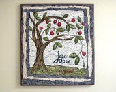 Personalized Tree of Life Commemorative Hooked Rug for Weddings, Anniversaries, Births, New Baby :  Tell Your Story