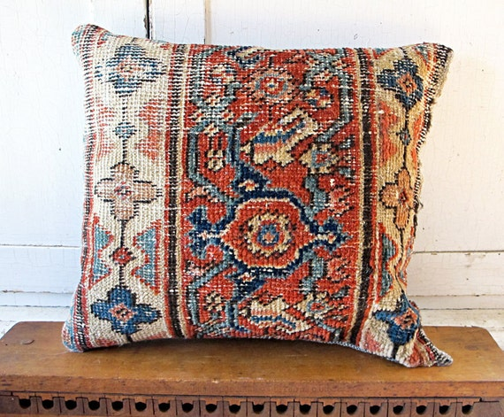 Persimmon Oriental Rug Pillow No. 2