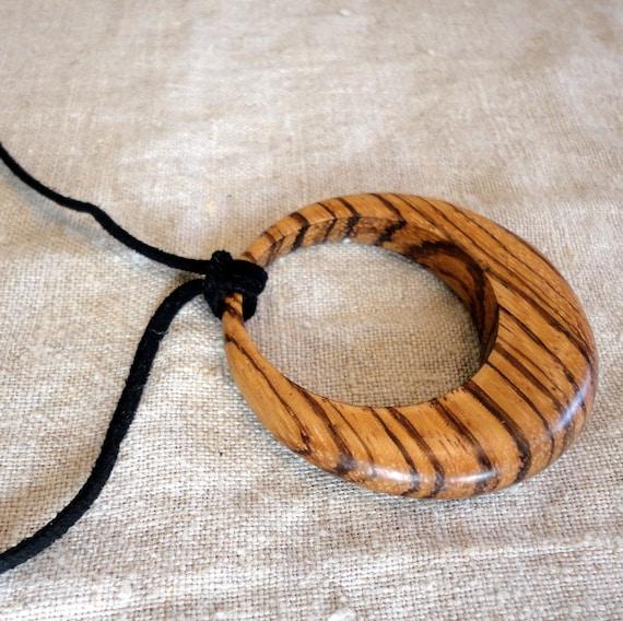 Zebrawood Pendant Necklace