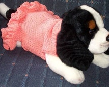 """PDF Download Knit Pattern for """"Party Dress"""" Sweater for Small Breed Dogs"""