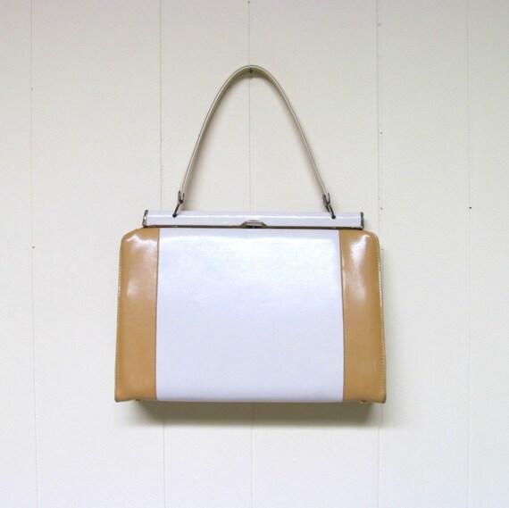 Vintage 1950s Two-Tone Handbag