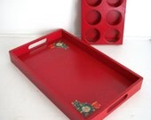 Vintage Tray and Drink Holder