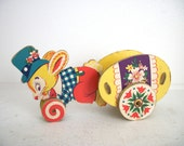 Vintage Easter Bunny Pull Toy