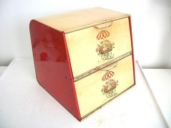 Vintage Double Decker Bread Box