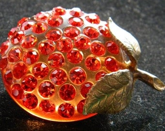 Orange Tangerine Forbidden Fruit Brooch