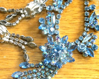 Juliana Sparkle Blue Demi Parure Necklace and Earring Set REDUCED was 225.00