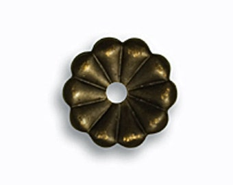 Vintaj Natural Brass 9mm Daisy Washer- 6pcs Metal Spacer Natural Brass Jewelry Findings Craft Supplies Tools