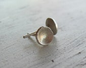 Tiny Sterling Silver Round Stud Earrings - Sterling Silver Post