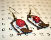 BangleSnaps Bronze& Antiqued Copper Birdcage Earrings
