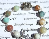 BangleSnaps Multi Colored Marble Wire Wrapped Bracelet