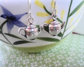 Sterling Silver Teapots Earring Set