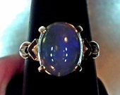 2.33 cts Solid Australian Crystal Opal Ring size 7.25