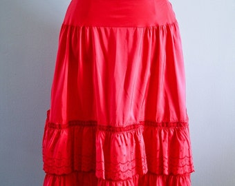 vintage 1950's red petti skirt