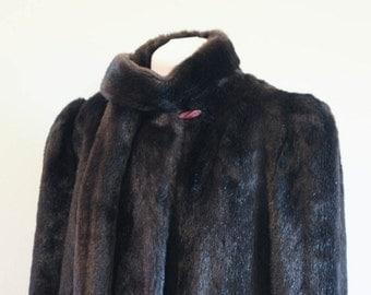 SALE - Vintage 1980's Dubrowsky & Perlbinder faux fur coat