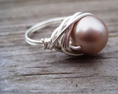 Champagne Pearl Ring