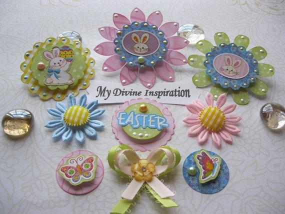 Easter Bunny Scrapbook Paper Embellishments