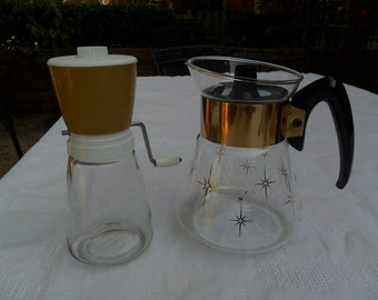 Vintage Coffee Carafe and Food/Nut Chopper