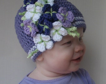 Lavender Fields with Bouquet Crochet Pattern 4 sizes included PDF 074 Permission to Sell Finish Items