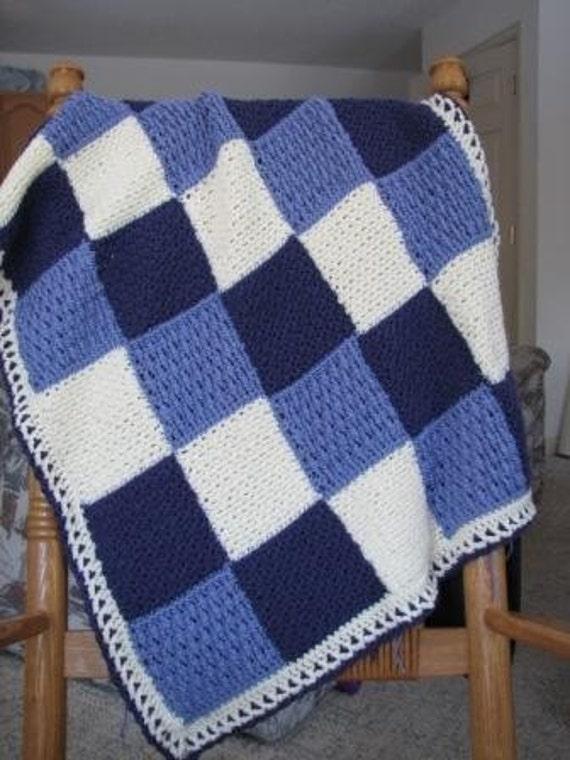 Purple Patchwork Baby Afghan Crochet Pattern Pdf 018