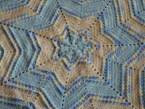 Textured Star Baby Afghan Crochet Pattern Pdf By