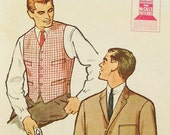 Vintage 1960s Mens Jacket Pattern  McCalls 5051 Size 38 Mad Men