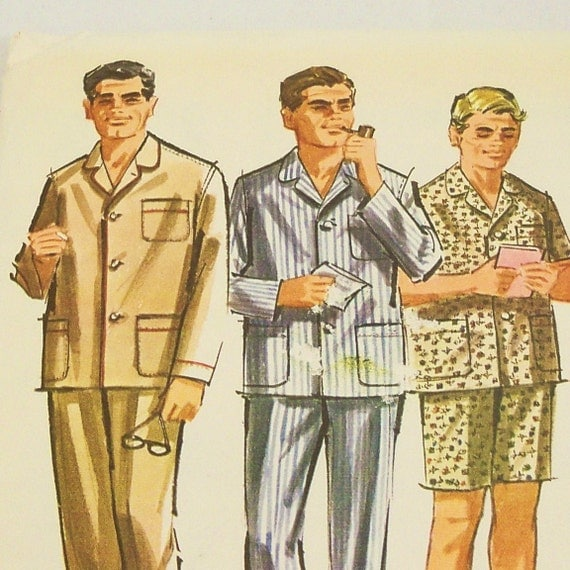 Vintage 1960s Pajamas Pattern McCalls 6597 Uncut 1960s Size 34 36 Small