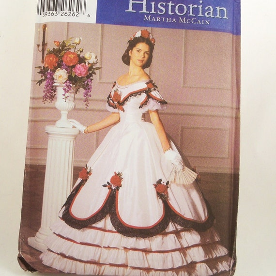 Victorian Ball Gown Pattern Simplicity 5724 Uncut Sz 6 - 12 19th century