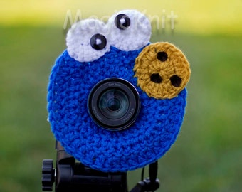 Cookie Monster Lens Buddy, Lens Accesory, Shutter Helper, Smile Generator for Photo Props.