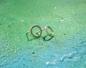 sale SILVER CIRCLE EARRINGS free shipping