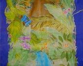 Custom Silk Painting from Costa Rica OOAK art original design
