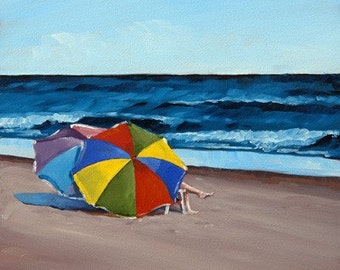 Shore Thing - Oil Painting - 11x14in. Print