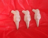 3 Alligator Garden Stakes . Do it Yourself project. Ceramic Bisque. Fun Craft idea.