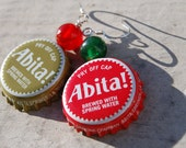 Christmas Abita Bottlecap Earrings