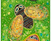 Green Bugs -- Print on Stretched Canvas