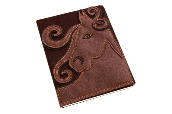 Removable book cover journal horse by tratgirl