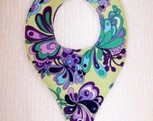 Sweet and soft pacifier bib - ready to ship