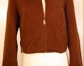 Vintage 80s Jean Jacket Armani Jeans Brown Size M