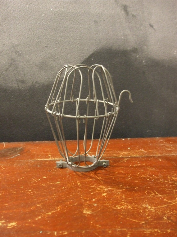 Vintage Antique Industrial Style Light Bulb Cage - Pendant Lamp, Flower Type