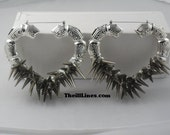 Krazy Hearts Spike Bamboo Earrings      25 Percent Off Today Only  37.50