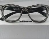 Swarovski Crystal Chain Frames Ray Ban Style   Half Off  Free Shipping
