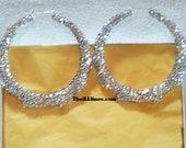 Swarovski Crystal Bamboo Earrings 3 1/2 inch