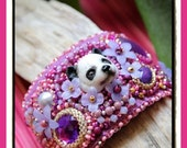 The Lovely Panda Embroidery Cuff Bracelet