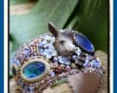 Sweet Donkey Embroidery Cuff Bracelet