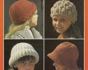 Knitting   pattern Patons 1390 size.8 to 9 and 10 to 11 years.