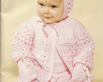 PDF Knitting pattern lovely baby outdoor set Patons 15.