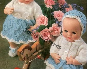 Knitting pattern Emu 14 b  dolls clothes size 12 inch dolls.