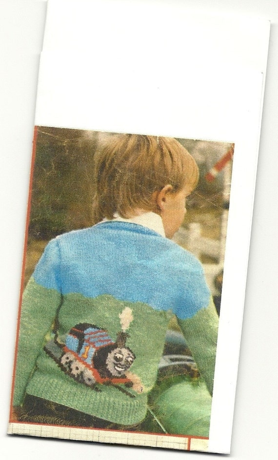 PDF Knitting pattern thomas tank engine sweater. 22-26 inch chest. from Allcr...