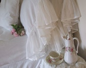 """Shabby Chic Pillow Cases 9"""" Veil Lace"""