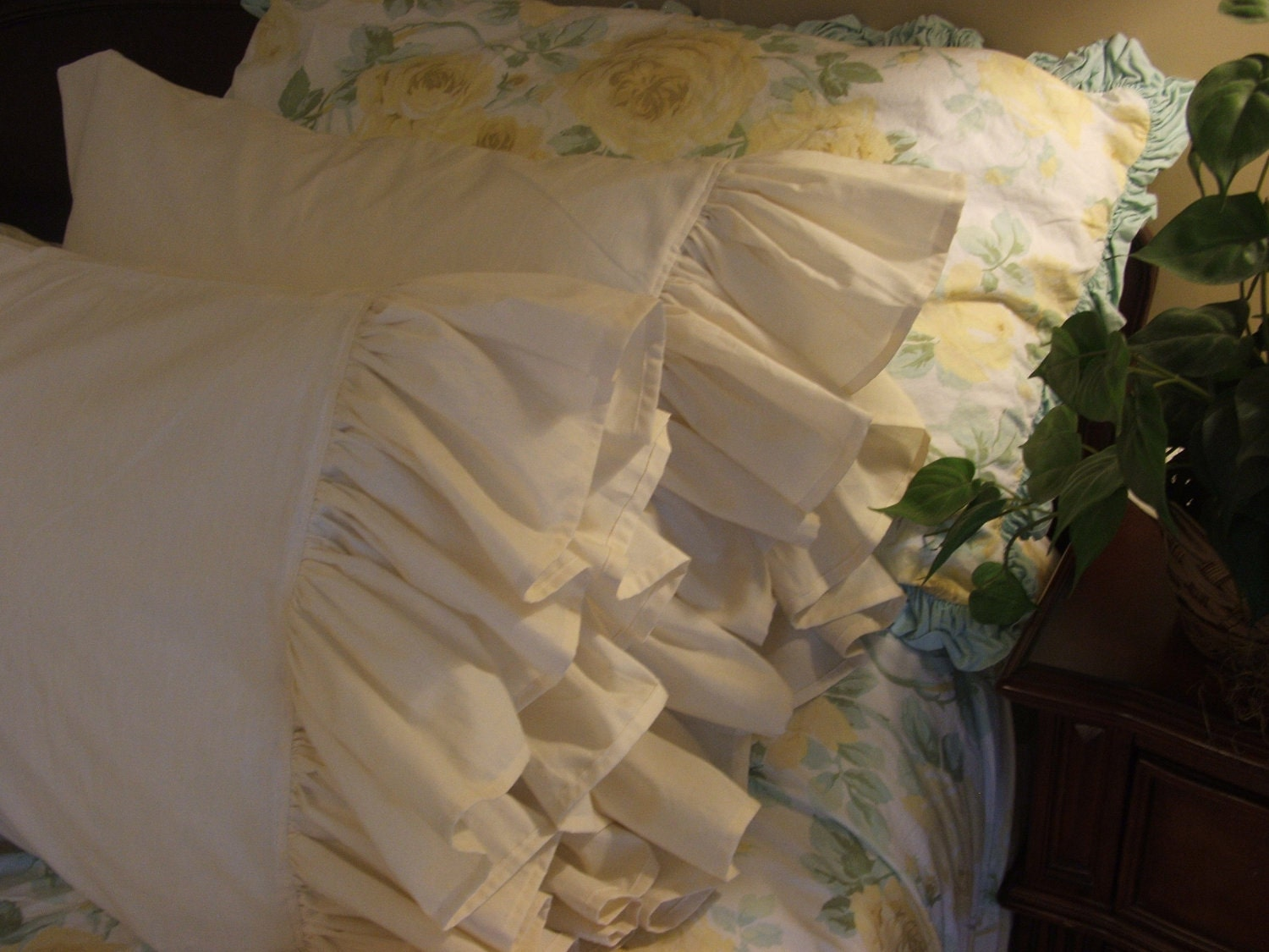 Shabby Chic Woodrose Pillowcases : Shabby Chic Pillowcases